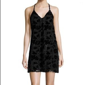 Alice + Olivia Fierra Velvet-Trim Mini Dress